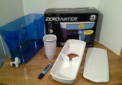 ZeroWater 23 Cup Dispenser with Free TDS Meter (Total Dissolved Solids)