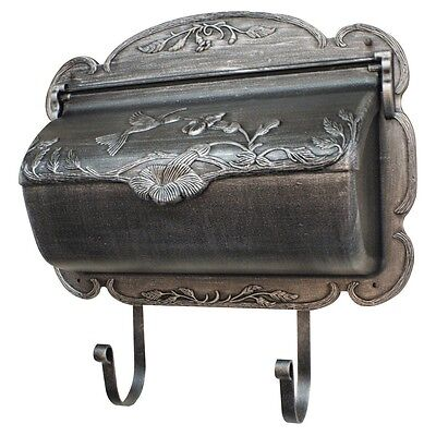 Silver Wall Mount Mailbox Vintage Aluminum Letter Box Newspaper Holder Rust Free