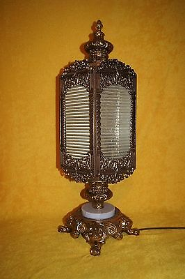 Elegant, Heavy, Large Brass And Marble Victorian 5 sided Lamp