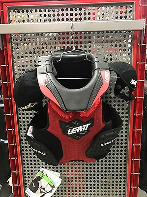 New Leatt Fusion 2.0 Red Youth Vest Neck Chest Protector Brace Motocross Atv L/x