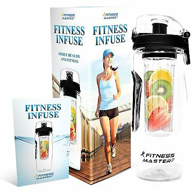 Fruit Infuser Infusing Water Bottle 32oz Plastic Bpa Free Juice Tumbler Pitcher
