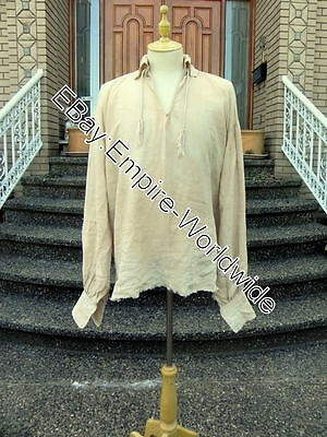 jack sparrow accurate LINEN PIRATE SHIRT costume