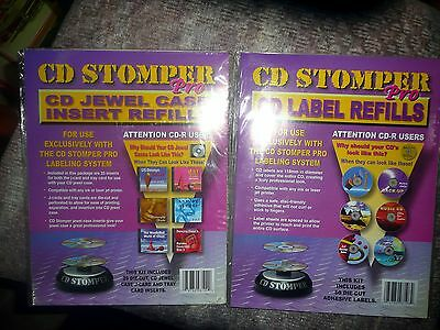50 CD Stomper Pro CD Label Refills and 25 CD Jewel Case Insert Refills