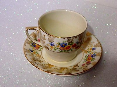 Vintage British Anchor Chintz Ceramic Cup And Saucer