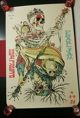 Pearl Jam Jeff Soto & Tyler Stout 06/29/12 Werchter Belgium Poster