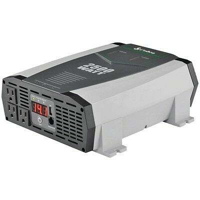 NEW Cobra Electronics 2.1a Usb 12-volt Dc To 120-volt Ac Power Inverter (2,500 W