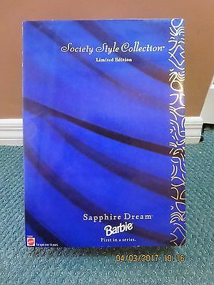 Barbie #13255 Limited Edition Sapphire Dream Barbie First in the series (1995)