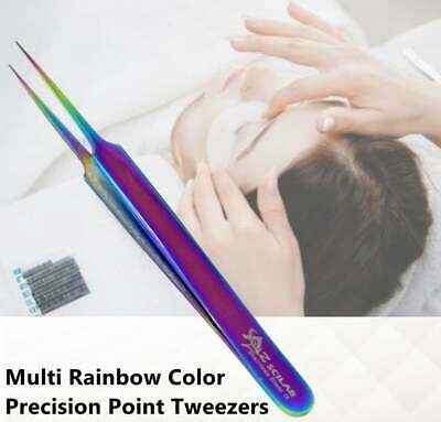 Stainless Steel Multi Rainbow Color 3D Eyelash Extension Tweezer Straight A type