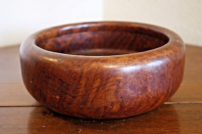 Antique Redwood Vtg Burl Wood Burled Handmade Turned Bowl Lodge Ranch Western
