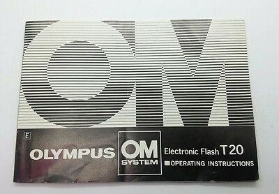 Vintage electronic flash OM Olympus T20 Instruction Manual 26p.