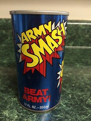 "VINTAGE ""ARMY SMASH ORANGE"" SODA POP CAN 12oz. 1978 NAVY FOOTBALL SCHEDULE PEPSI"