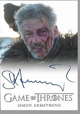 2017 Game of Thrones Season 6 Simon Armstrong as Qhorin Halfhand Auto