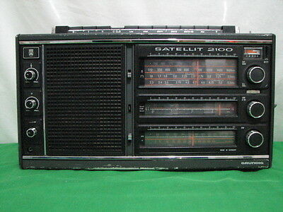 Grundig Satellit 2100 Mw Am Fm Sw Shortwave Radio Vtg 1979 Germany Please Read