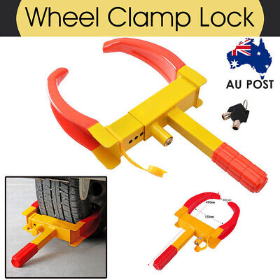 Heavy Duty Wheel Clamp Lock Vehicle Caravan Car Security Anti-theft w/ 3 keys