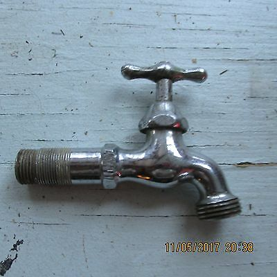 Vintage Old Brass Chrome Sink Faucet