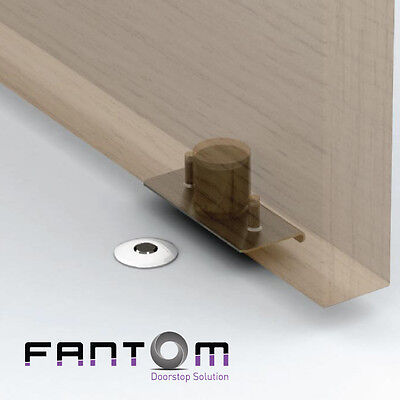 Fantom Door Stop  - Flush mounted magnetic doorstop with hold-open function.