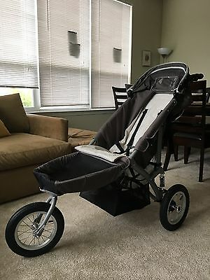 slightly used gray and beige special tomato jogger - excellent condition