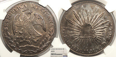 MEXICO 1876-Ca MM 8 Reales NGC AU-55