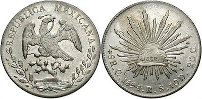 MEXICO: 1894 GO RS 8 Reales #WC69420