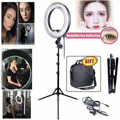 "13"" / 34cm 400W 5500K DIVA Ring Light Lamp w/ 2M Stand for Photo Video 110V US"