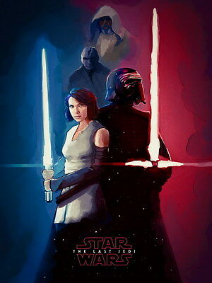 "011 Star Wars The Last Jedi - Daisy Ridley Action USA 2017 Movie 24""x32"" Poster"
