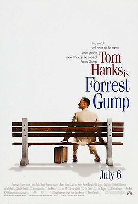 "002 FORREST GUMP - Tom Hanks Classic USA Movie 24""x35"" Poster"