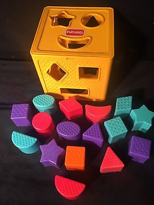 Playskool Sorter With Extra Blocks~Colors & Shapes Which Helps Many Motor Skills