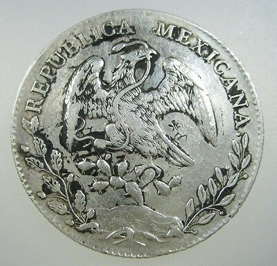 MEXICO 8 REALES 1892 Mo AM SILVER CHINESE ORIENT TRADE CHOPMARKS #B CROWN COIN
