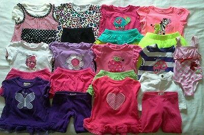 Girls 12/18 months spring summer clothes outfits shirts shorts clothing lot!