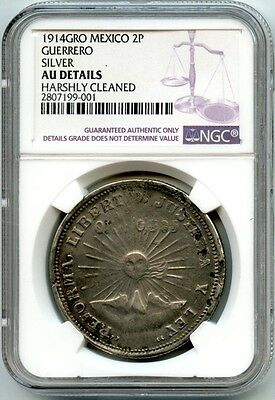1914 Gro Mexico 2P Ngc Au Details **silver & Gold** Coin
