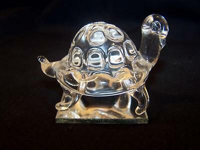 Vintage Hand Crafted Crystal Turtle Figuring