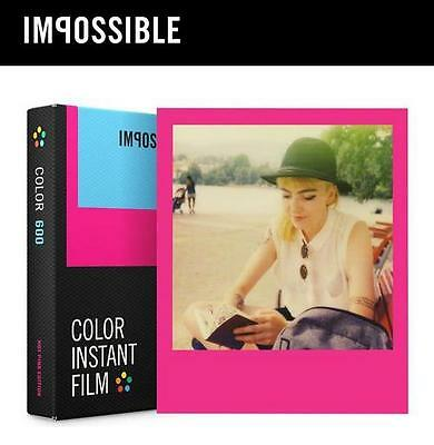 Impossible Project Color Instant Film PINK FRAME for Polaroid 600 660 One Step