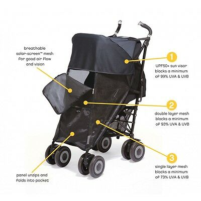Outlook Shade a Babe UPF 50 Single Pushchair Sun Shade Blocks 99% of UV Rays