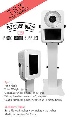Treasure Booth's Portable Light Weight Long Lasting Dual Screen TB12 Photo Booth