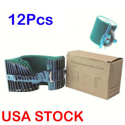 USA! 3D Sublimation 11OZ Silicone Mug Wrap 11OZ Cup Clamp Mug Wraps Heat Press