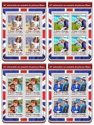 Z08 IMPERF ST17202c Sao Tome and Principe 2017 Princess Diana MNH Mint