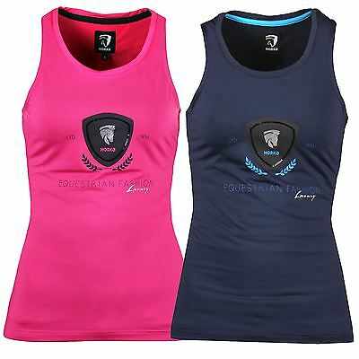 Horka Brasil Ladies Horse Riding Equestrian Breathable Gymnasuim Summer Show Top