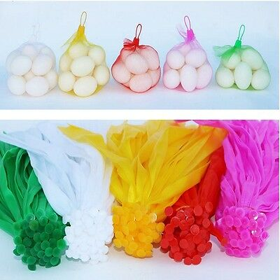 35CM Plastic Mesh Nylon Net Bag Storage Vegetable Fruit Nuts Toys With Buckle