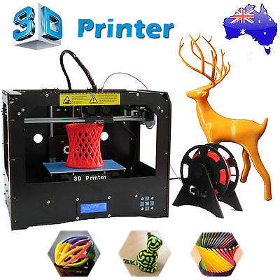 CTC 3D Printer DUPLICATOR 4 Dual Extruders Space board +1 Roll PLA for Makerbot