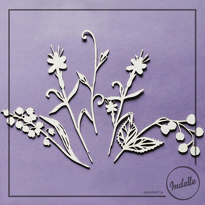 Flowers Chipboard Shapes Card Making Papercraft Scrapbooking 5 Elements