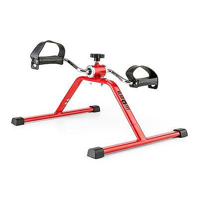 Arms Leg Mini Bike Trainer Cardio Pedals Fitness Bicycle Excercise Home Gym Red