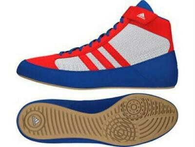Adidas Adults Havoc Wrestling Boots / Shoes - Red/White/Blue - AQ3324