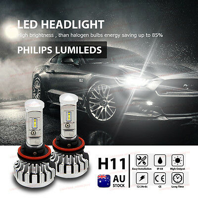 PHILIPS H8 H9 H11 180W 26000LM LED Headlight Bulbs 6500K CANBUS Conversion Kit
