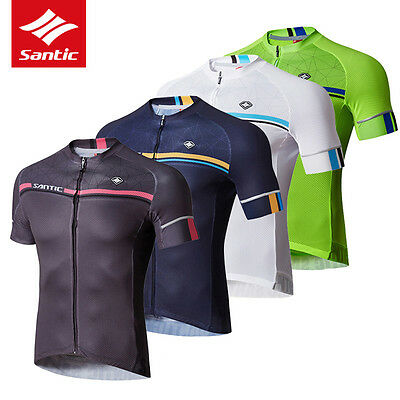 Santic Men Cycling Short Jersey Sleeve Cuff Road Bike MTB Short Sleeve 4 Colour