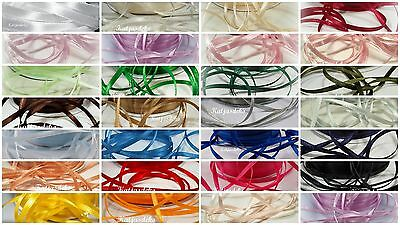 100 Meters 3mm 1m/0,05€ Satin Ribbon Bow Ribbon Satin Wedding Baptism Communion