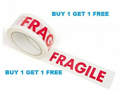 3 x BUFF 3M BROWN PACKING TAPES 48mmx50mtr 3 x FRAGILE