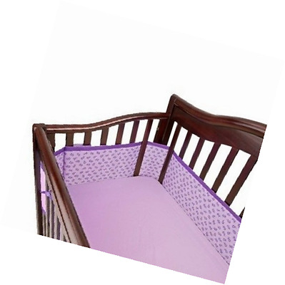 Breathable Mesh Crib Liner by BreathableBaby 2014 - Purple Stitch