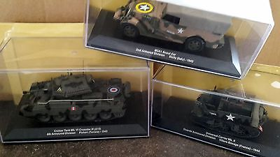 LOT DE 3 VEHICULES US ARMY TANK CRUISADER 2ème GUERRE 1/43 NEUF S/BLISTER (4)
