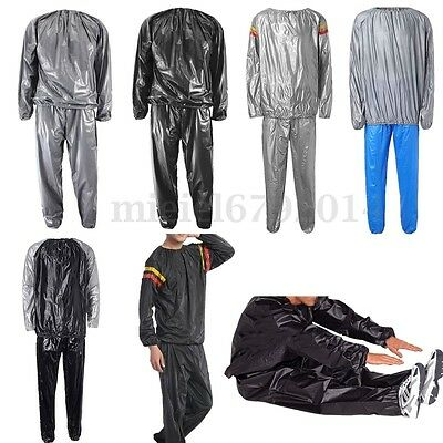 Heavy Duty Fitness Weight Loss Sweat Sauna Suit Exercise Gym Anti-Rip Women Men