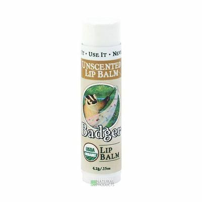 Badger Organic Unscented Lip Balm 4.2g